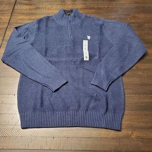 US Polo Assn Sherpa Zip Mock Collar Sweater